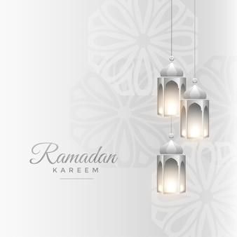 Saludo realista de ramadan kareem islámico