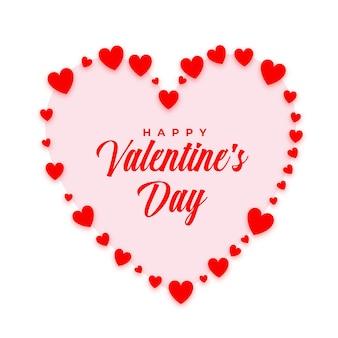 Saludo romántico del día de san valentín para la celebración del evento.