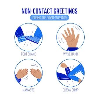 Saludos alternativos sin contacto durante el período covid-19
