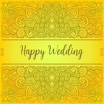 Saludos de boda mandala ilustración