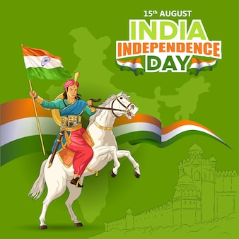 Saludos del día de la independencia de la india con la reina india