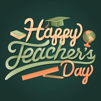 Saludos felices del día mundial del maestro