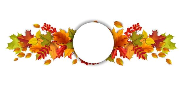 Saludos y regalos por el concepto de temporada otoño y otoño.