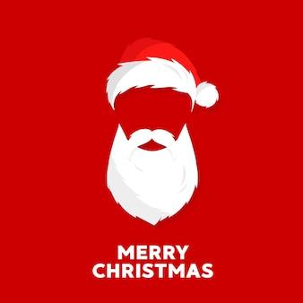 Saludos de santa, feliz navidad