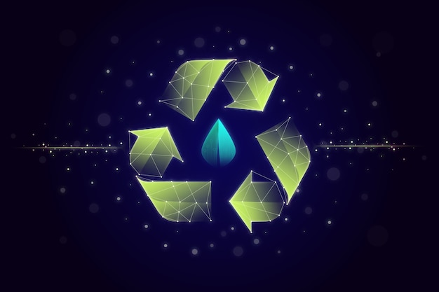 Salvapantallas de concepto de ecología tecnológica