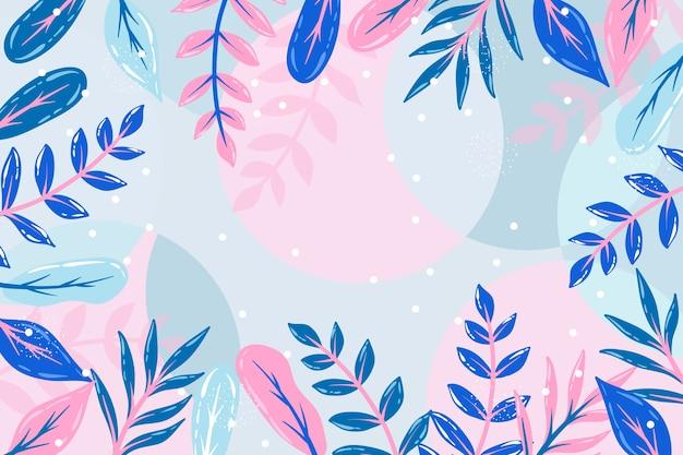 Salvapantallas floral abstracto plano