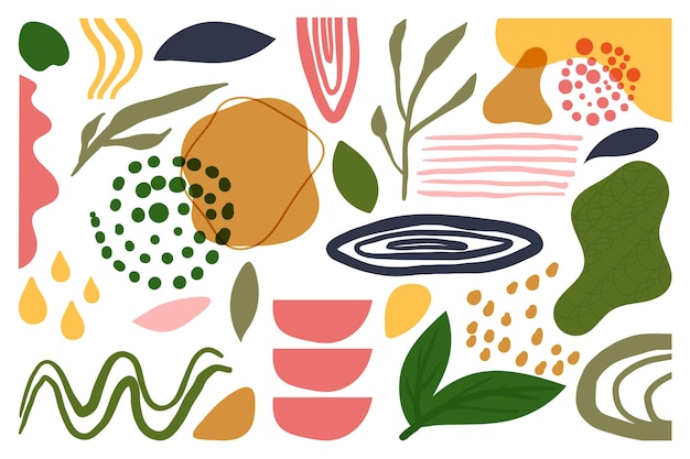 Salvapantallas de formas orgánicas abstractas dibujadas a mano