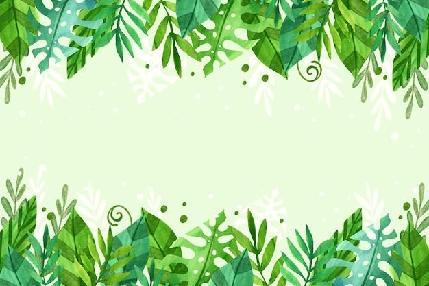 Salvapantallas de hojas tropicales