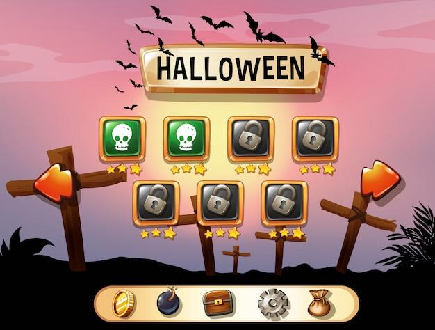 Salvapantallas del juego temático de halloween