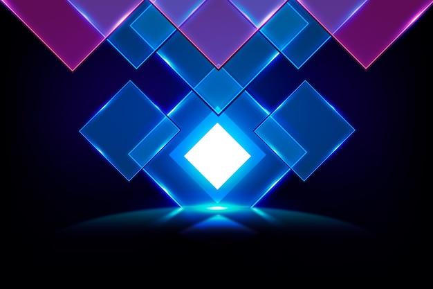 Salvapantallas de luces de neón de formas geométricas