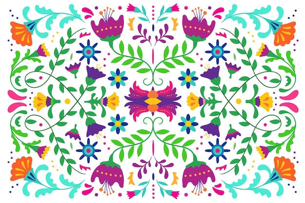 Salvapantallas mexicano colorido plano