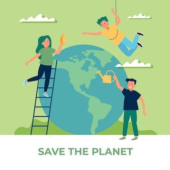 Salvar el concepto del planeta y las personas