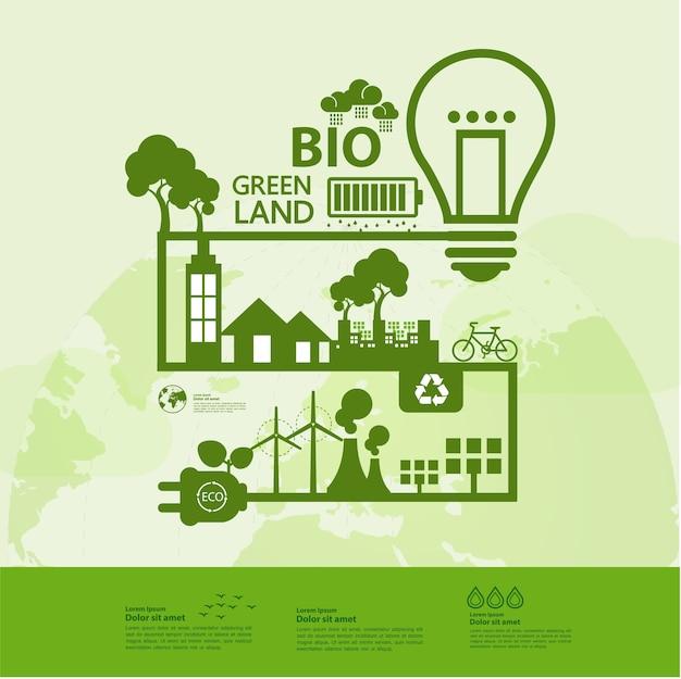 Salvar el mundo juntos ecología verde