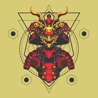 Samurai armadura geometría sagrada