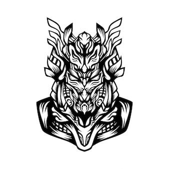 Samurai fuerzas ilustración vectorial