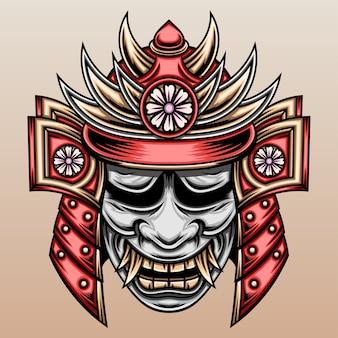 Samurai con máscara hannya.