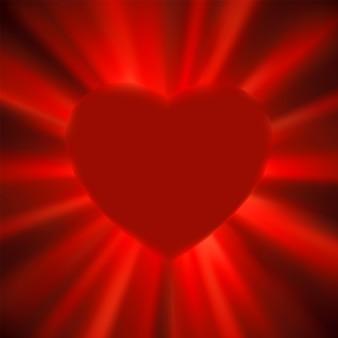 San valentín brillo corazón.