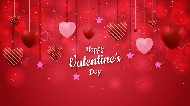 San valentín con forma de amor y efecto bokeh.