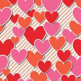 San valentín hermoso corazón de patrones sin fisuras