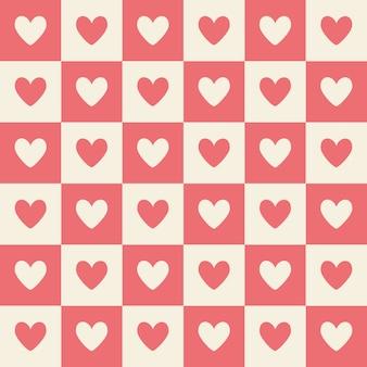 San valentín repita el corazón fondo suave