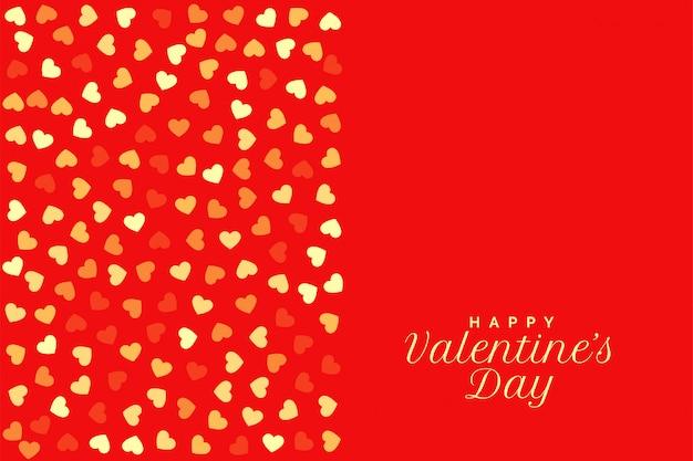San valentín rojo con corazones