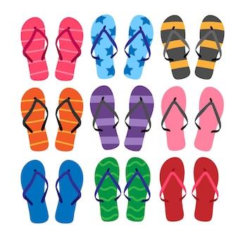 Sandalias de diseño vectorial