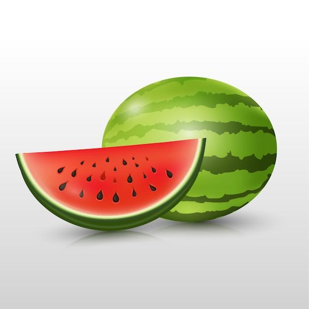 Sandía rebanada de fruta de verano.