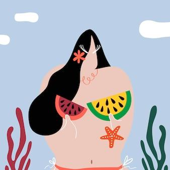 Las sandías como bikini.