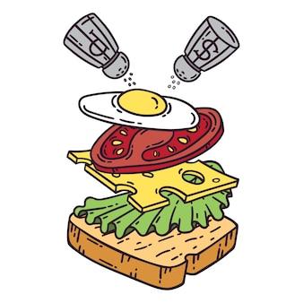 Sandwich con huevo.