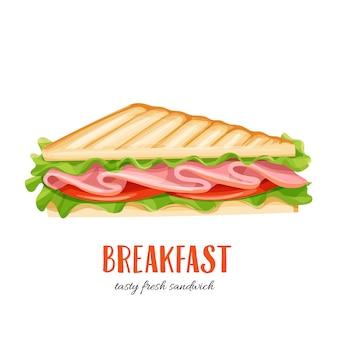 Sándwich con jamón