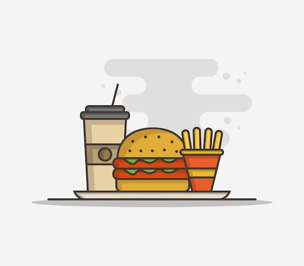 Sandwich y patatas fritas