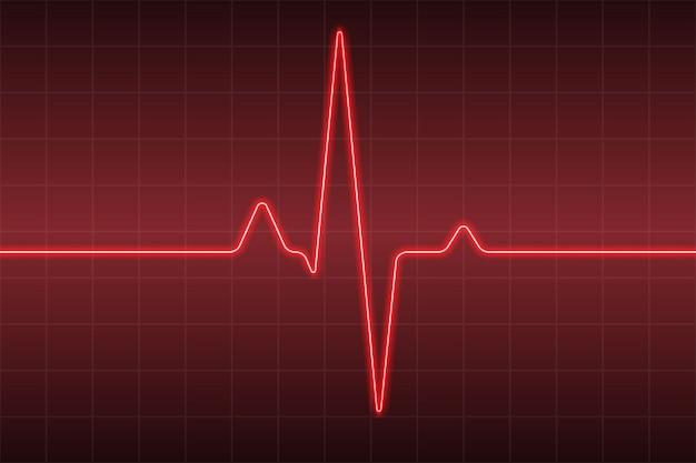 Sanidad médica con pulso cardíaco ecg