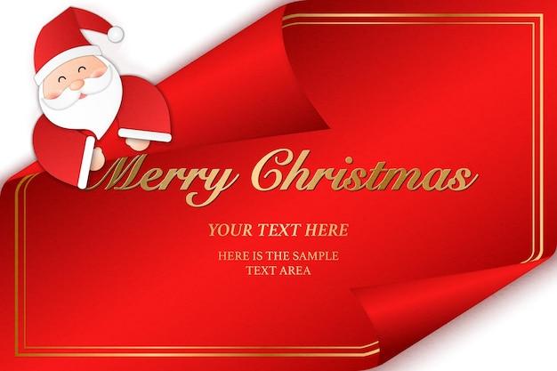 Santa claus y feliz navidad tarjeta de felicitación