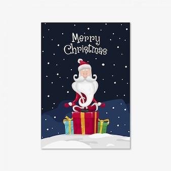 Santa claus está meditando sobre regalos