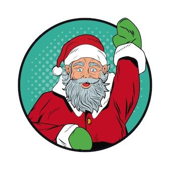Santa claus navidad arte pop