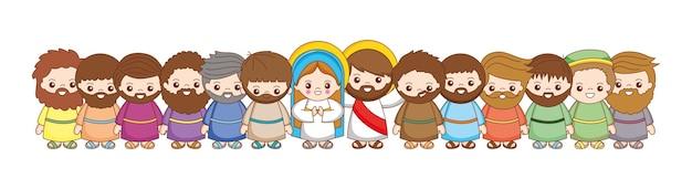 Santa maría con discípulos