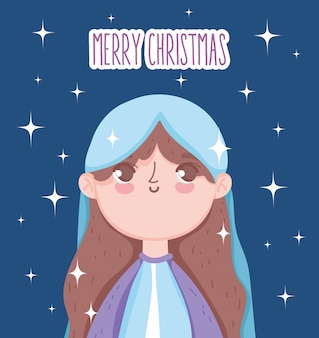Santa maría pesebre, feliz navidad
