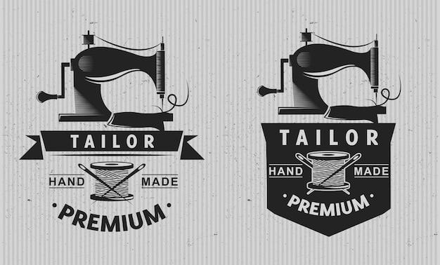 Sastre logotipo emblema.