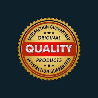 Satisfacción garantizada logotipo de productos originales