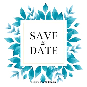 Save the date en acuarela