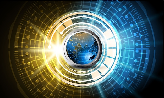 Sci fi tecnología ciber futurista diseño concepto fondo eps 10 vector