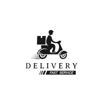 Scooter man, logotipo de entrega