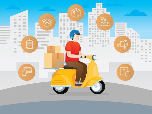 Scooter de mensajería de entrega