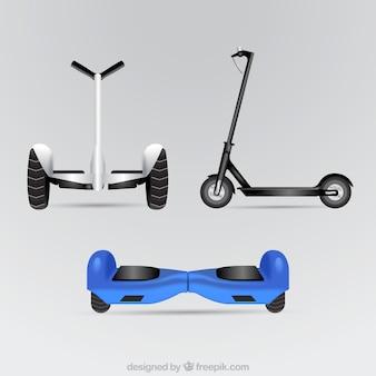 Scooters electrónicos con estilo realista