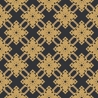 Seamless line thai gold pattern