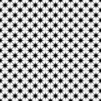 Seamless patrón de estrellas monocromo - vector de fondo diseño gráfico de formas geométricas poligonales
