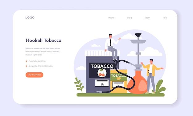 Sector de la industria de producción de tabaco de la economía web banner o página de destino