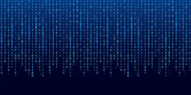 Secuencia de código binario. fondo de matriz de computadora.