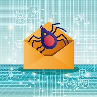 Seguridad cibernética con sobre