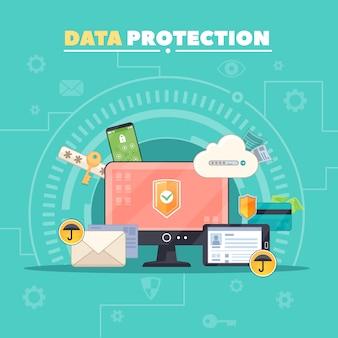 Seguridad de las comunicaciones informáticas y protección de datos privados.